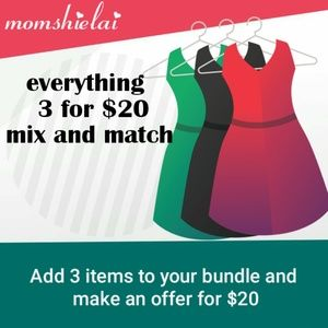Entire Closet 3 for $20 Mix and Match